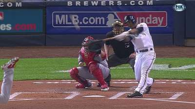 Segura out-slugging Brewers' expectations