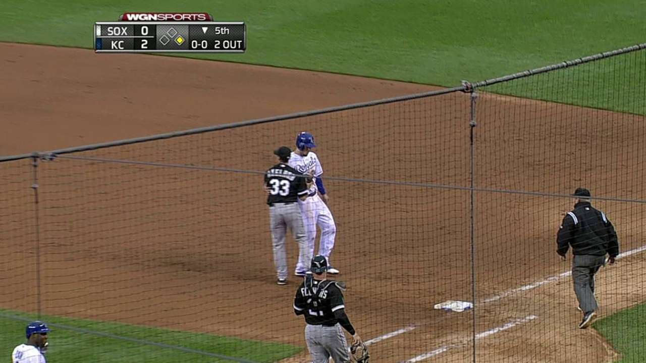 Axelrod settles in, but White Sox blanked in KC