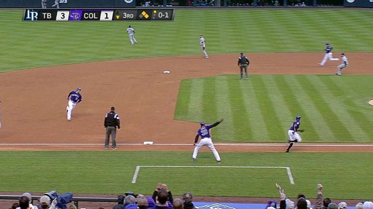 Tulo gives Rockies legs in victory over Rays