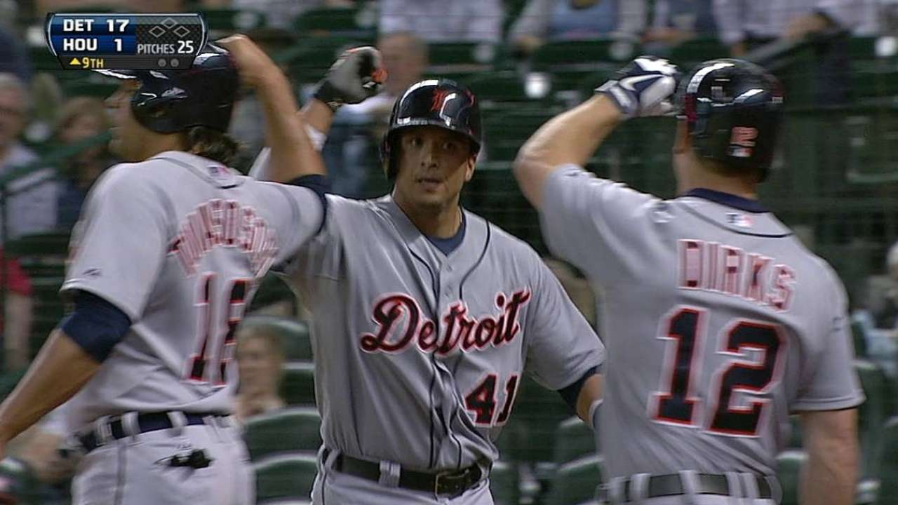 DH-less Tigers will sit V-Mart in Washington