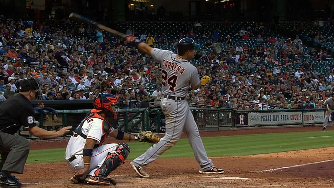 Miggy hits two homers as Tigers rout Astros
