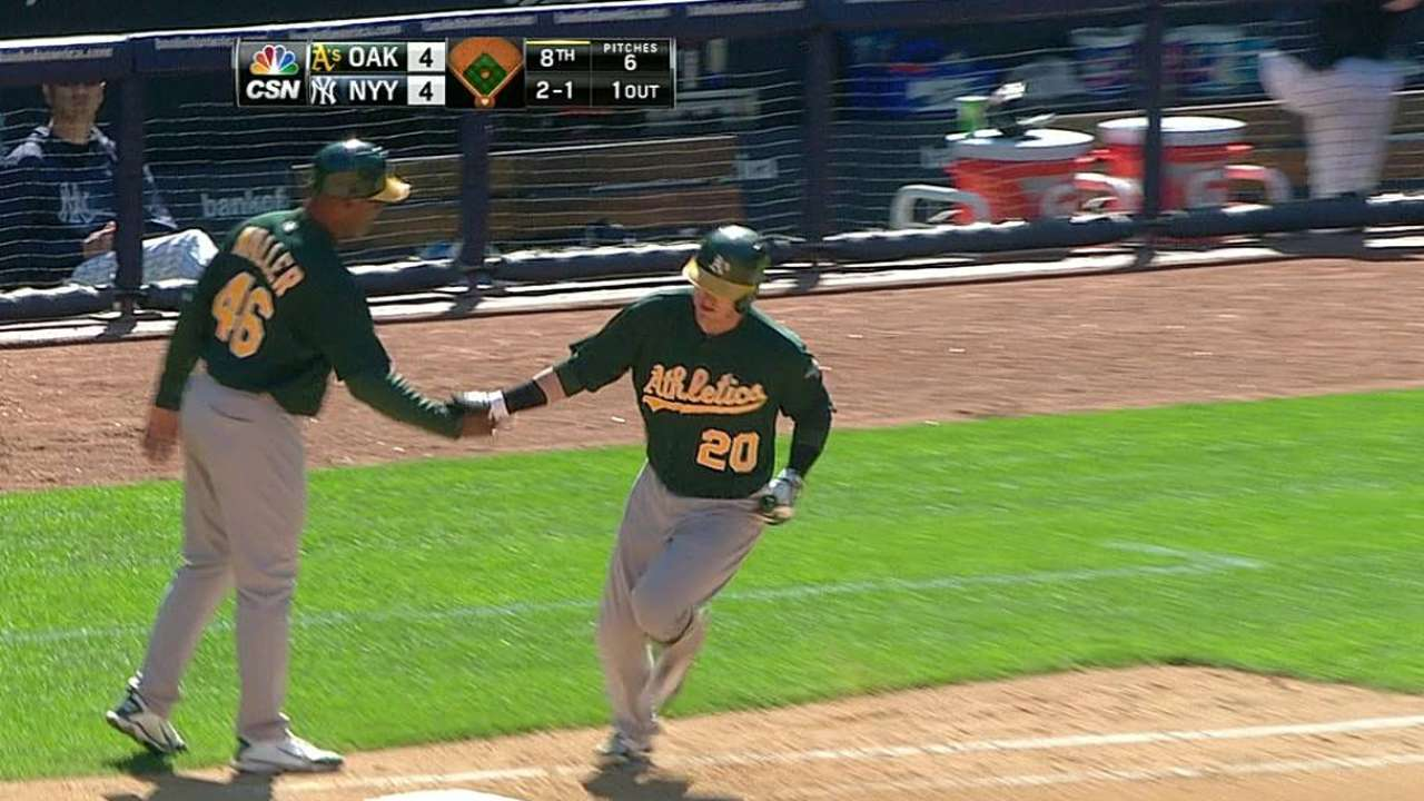 Donaldson's homer leads A's past Yankees