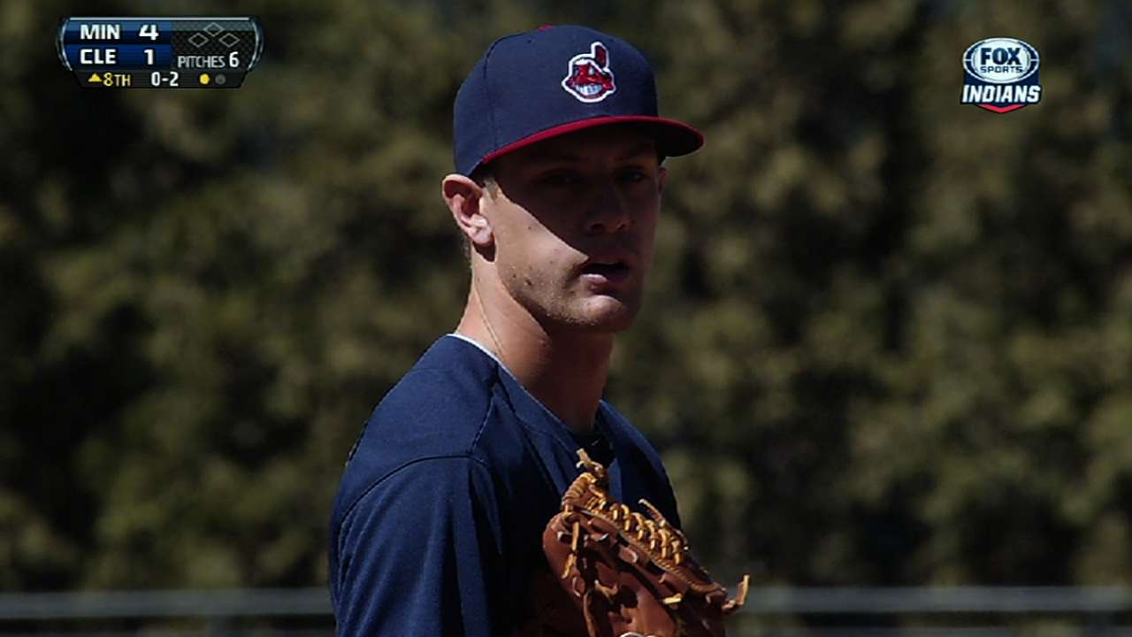 Tribe designates Huff, recalls Barnes for 'pen boost