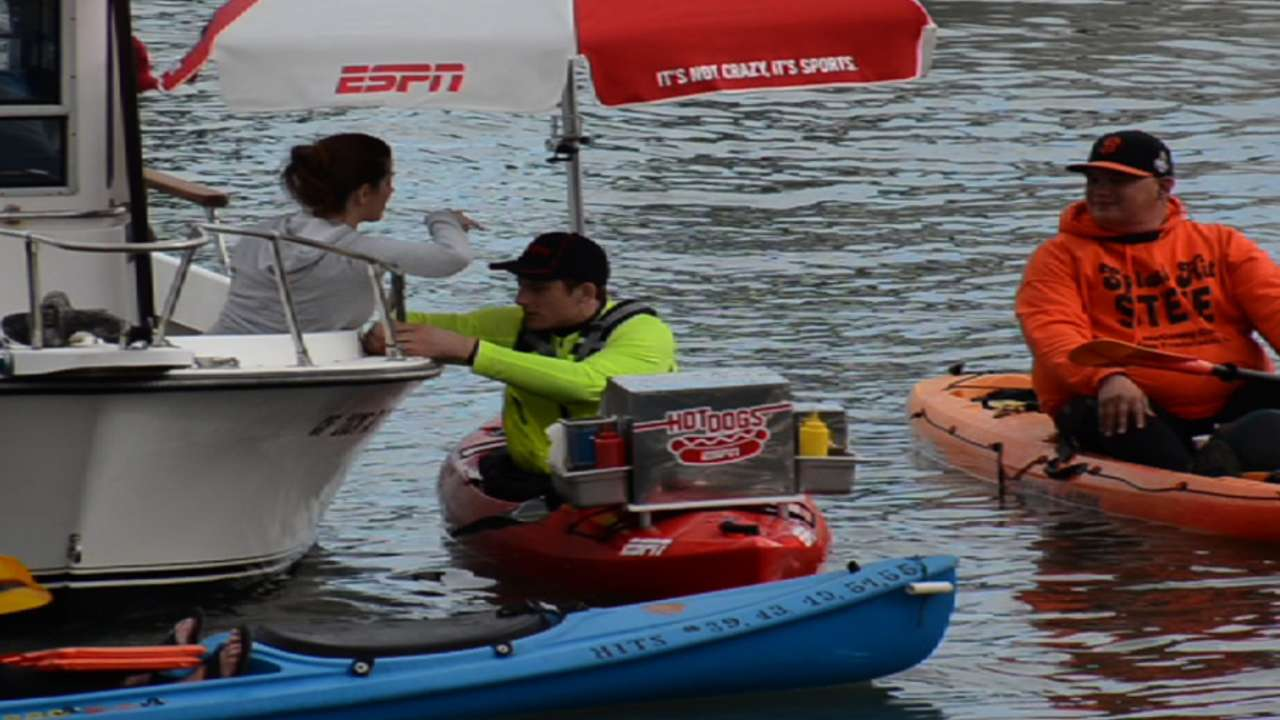 McCovey Cove kayakers get a treat