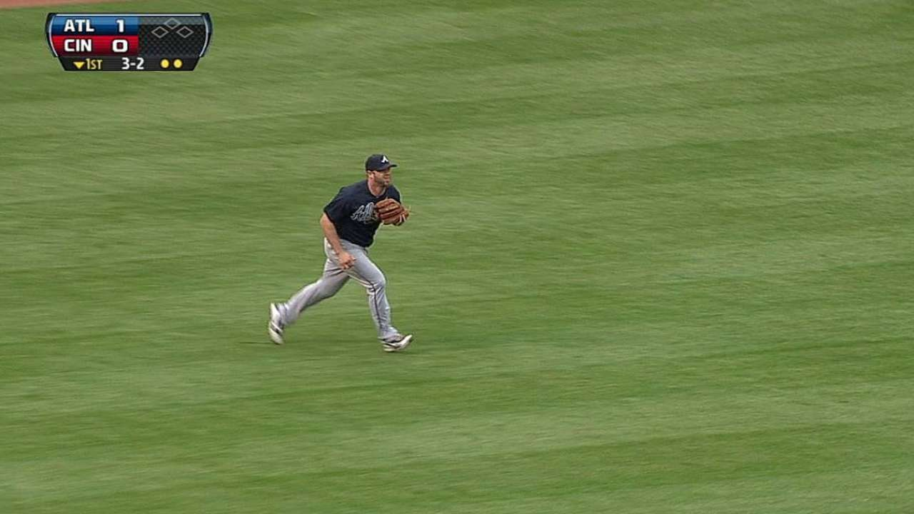 Gattis' nice catch