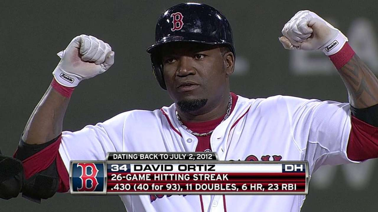 Double extends Papi's hitting streak to 26