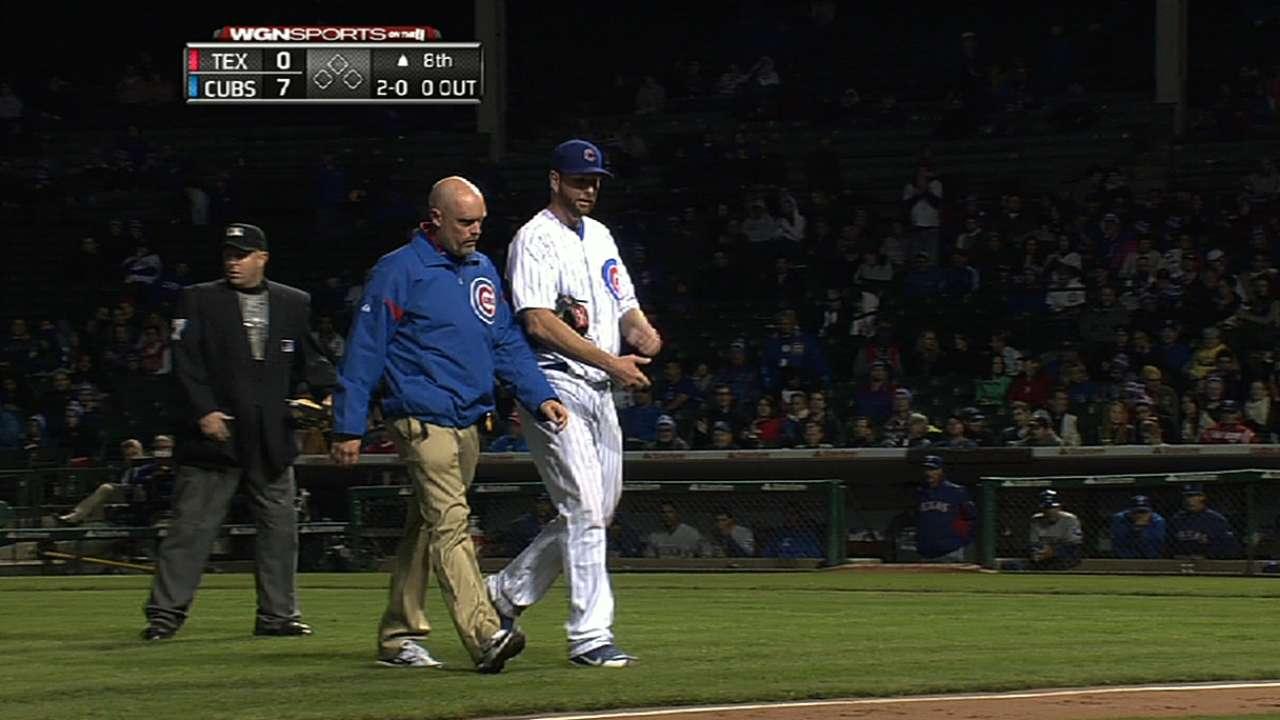 Feldman's scoreless start leads Cubs past Rangers