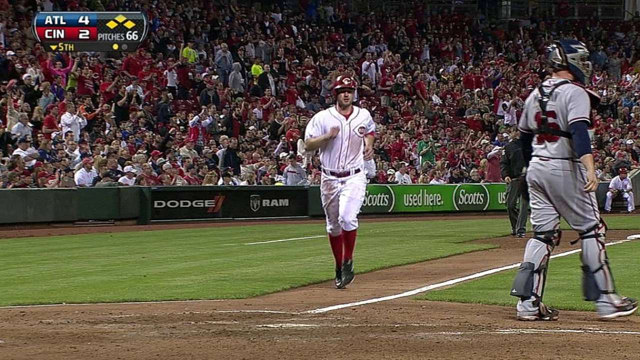 Lutz takes advantage of big league time with Heisey out