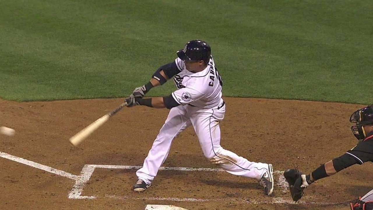 Cabrera, Padres excel at hitting with two outs