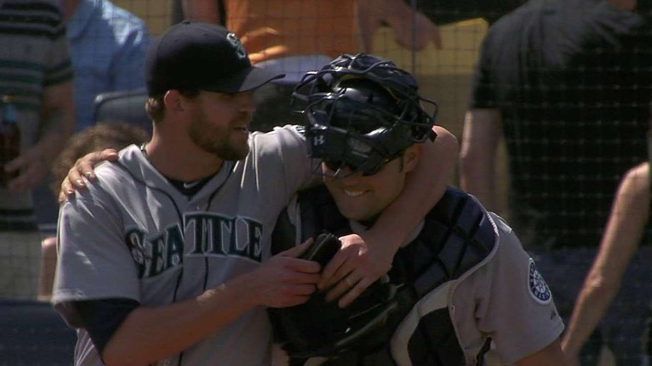 Wilhelmsen happy to be this year's Mariners train