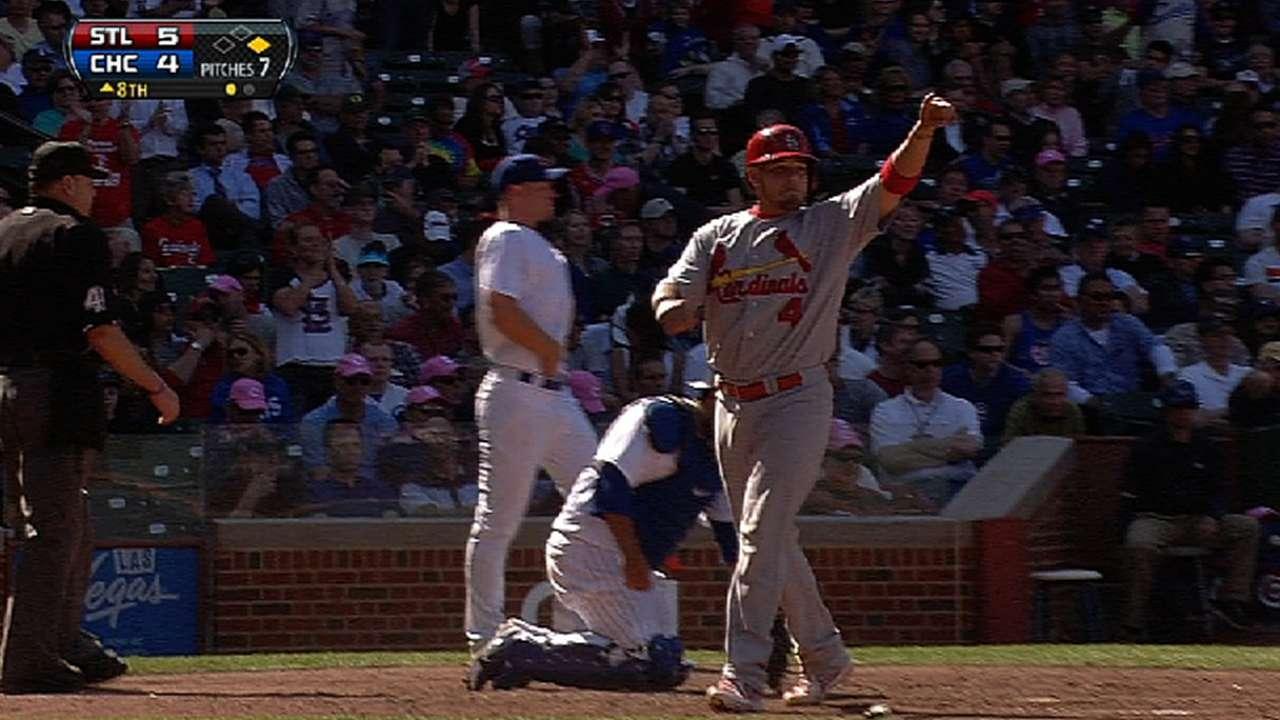 Cardenales remontan y le arrancan triunfo a Cubs