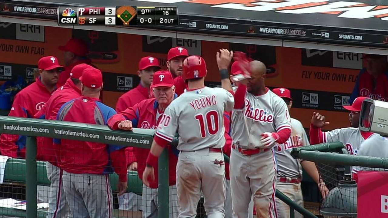 Phillies fight back before losing in extras