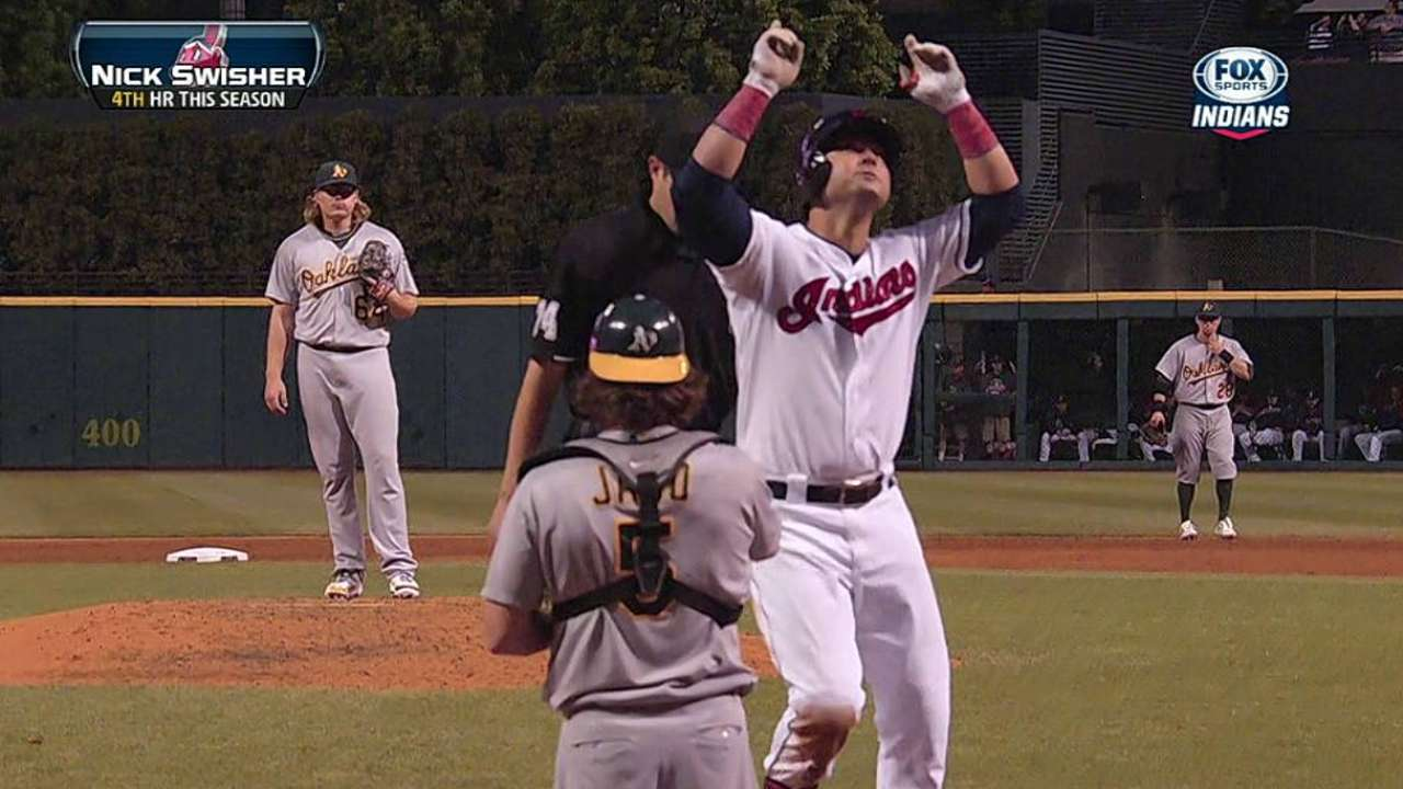 Two homers turn deficit into win for Indians