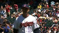 Tribe knocks three homers, Kazmir dazzles in sweep