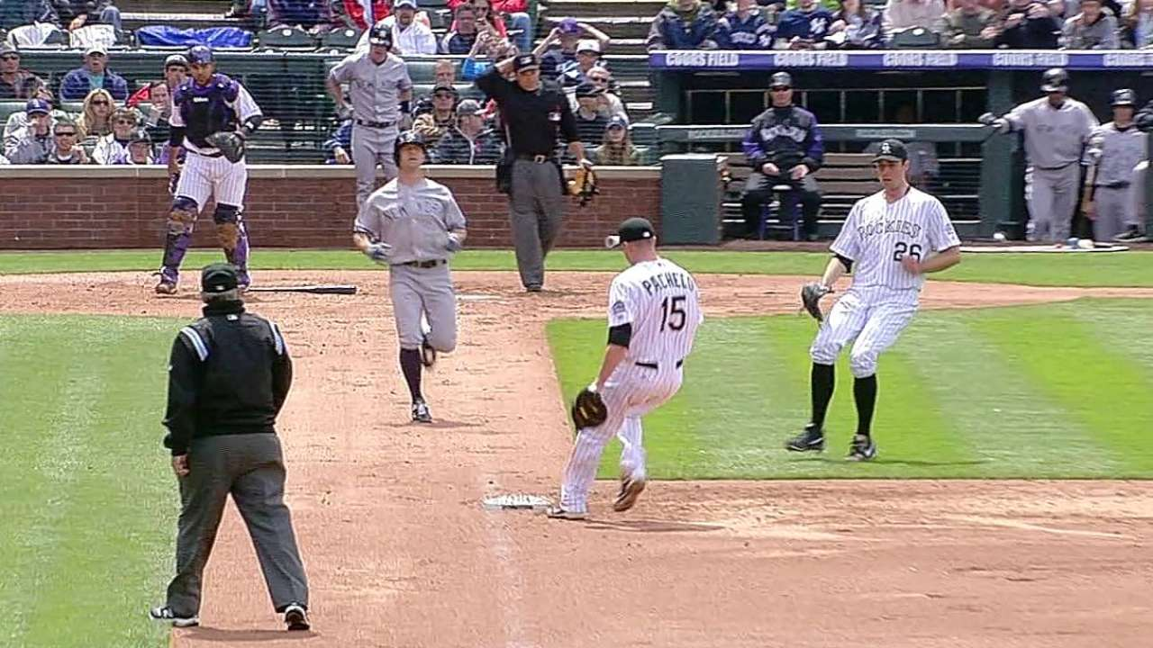 Rockies drop soggy finale against Yankees