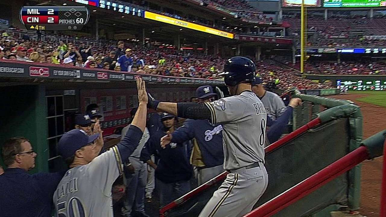 Segura, Braun go back-to-back in loss to Reds