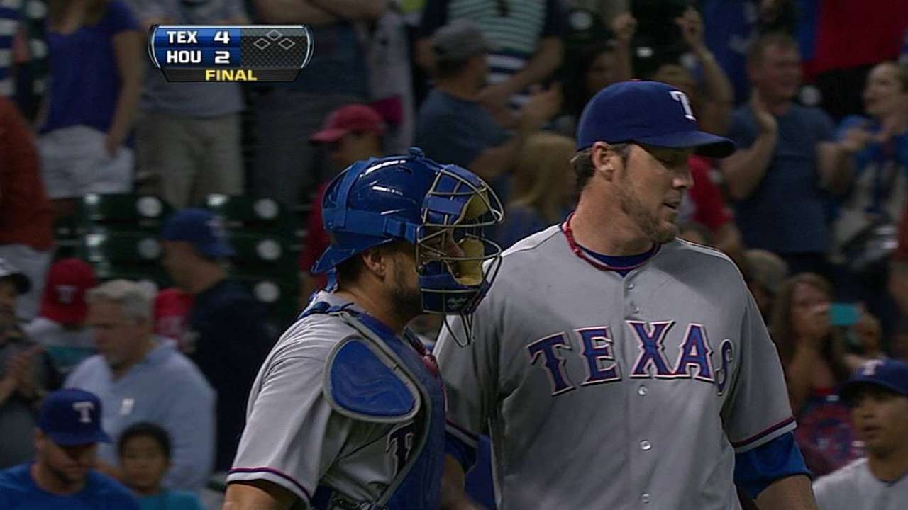 Back end of 'pen dominating for Rangers