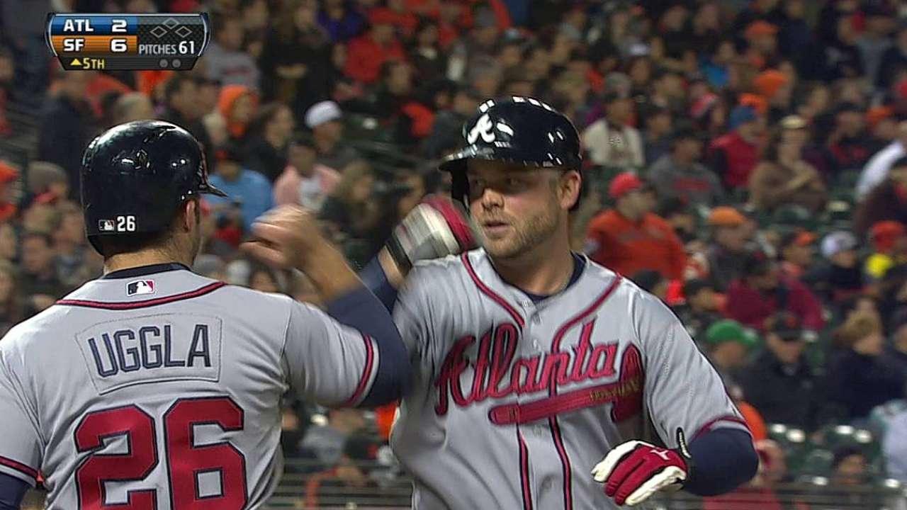 Hudson derailed by Giants' six-run fourth inning