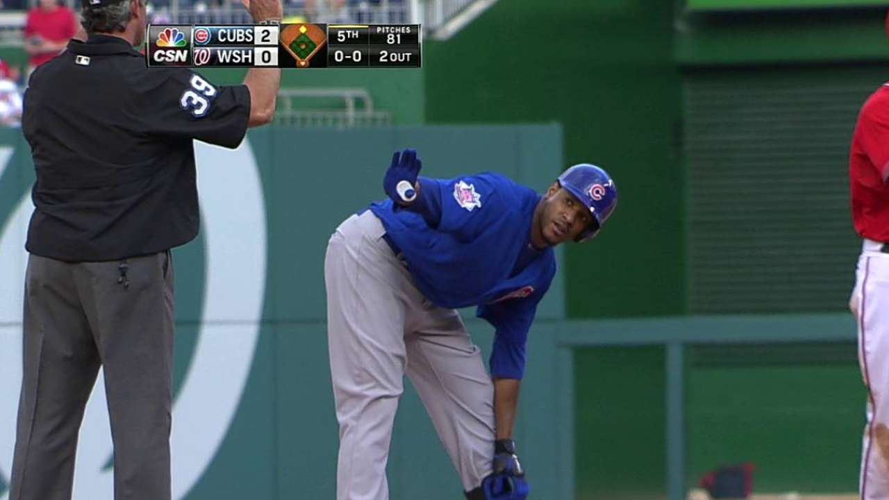 Jackson leads Cubs with arm, bat in return to DC
