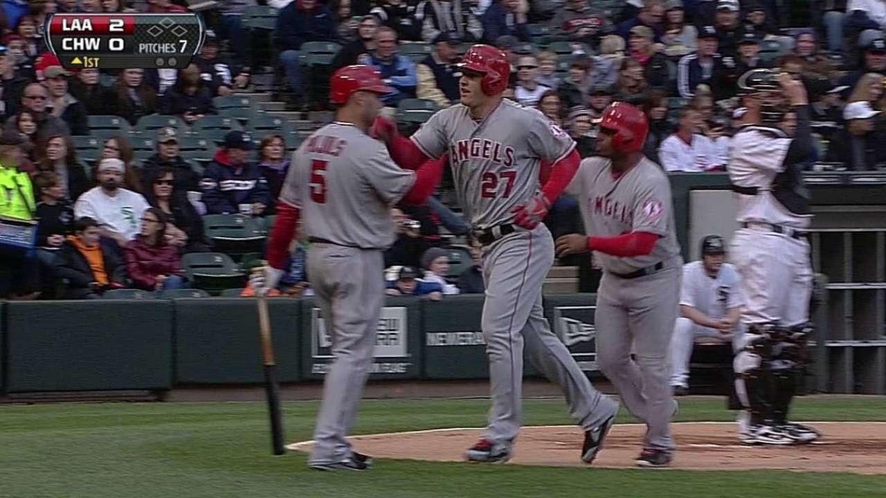 Trout jonronea y los Angelinos vencen a White Sox