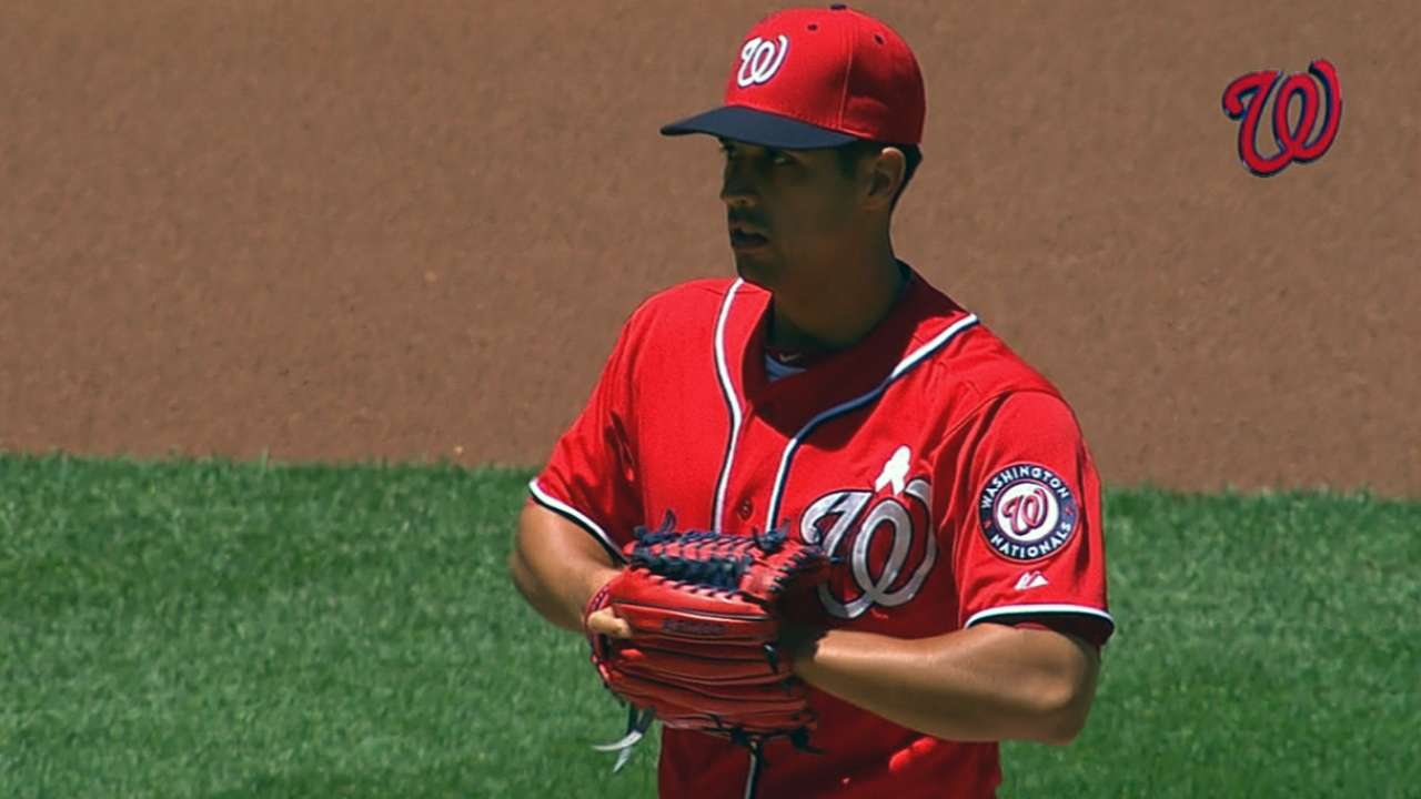 Gio flirts with perfect game, but 'pen can't hold lead