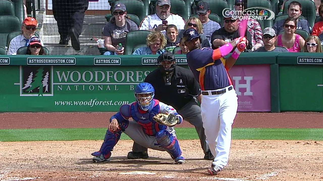 Carter among Astros to slug with pink bats