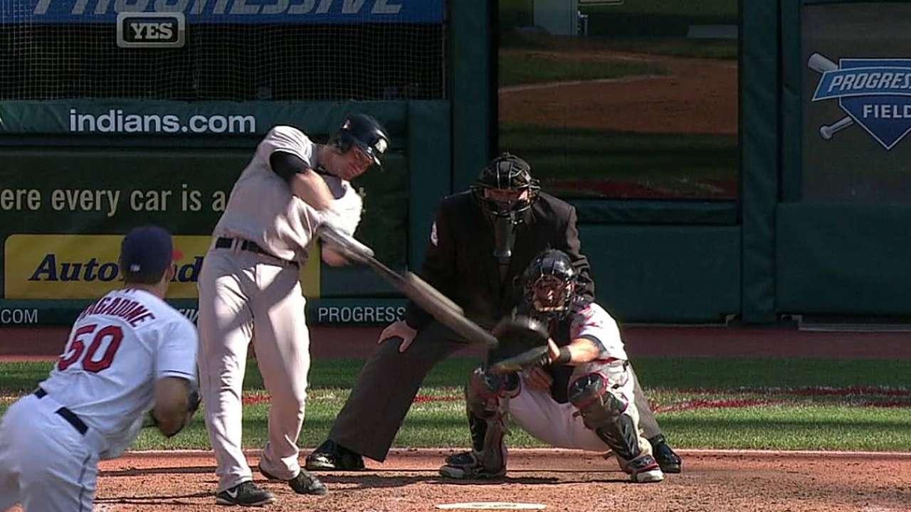 Yankees dividen doble jornada blanqueando a Indios