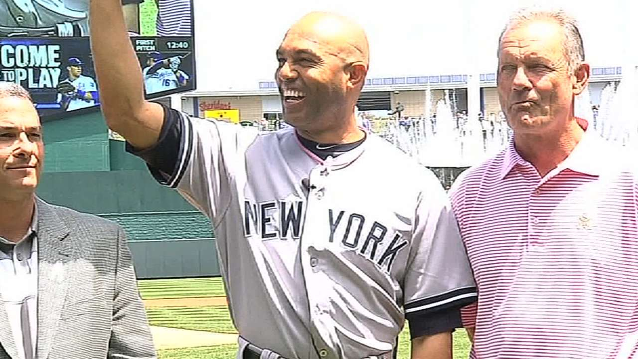 Royals salute Mariano with video tribute