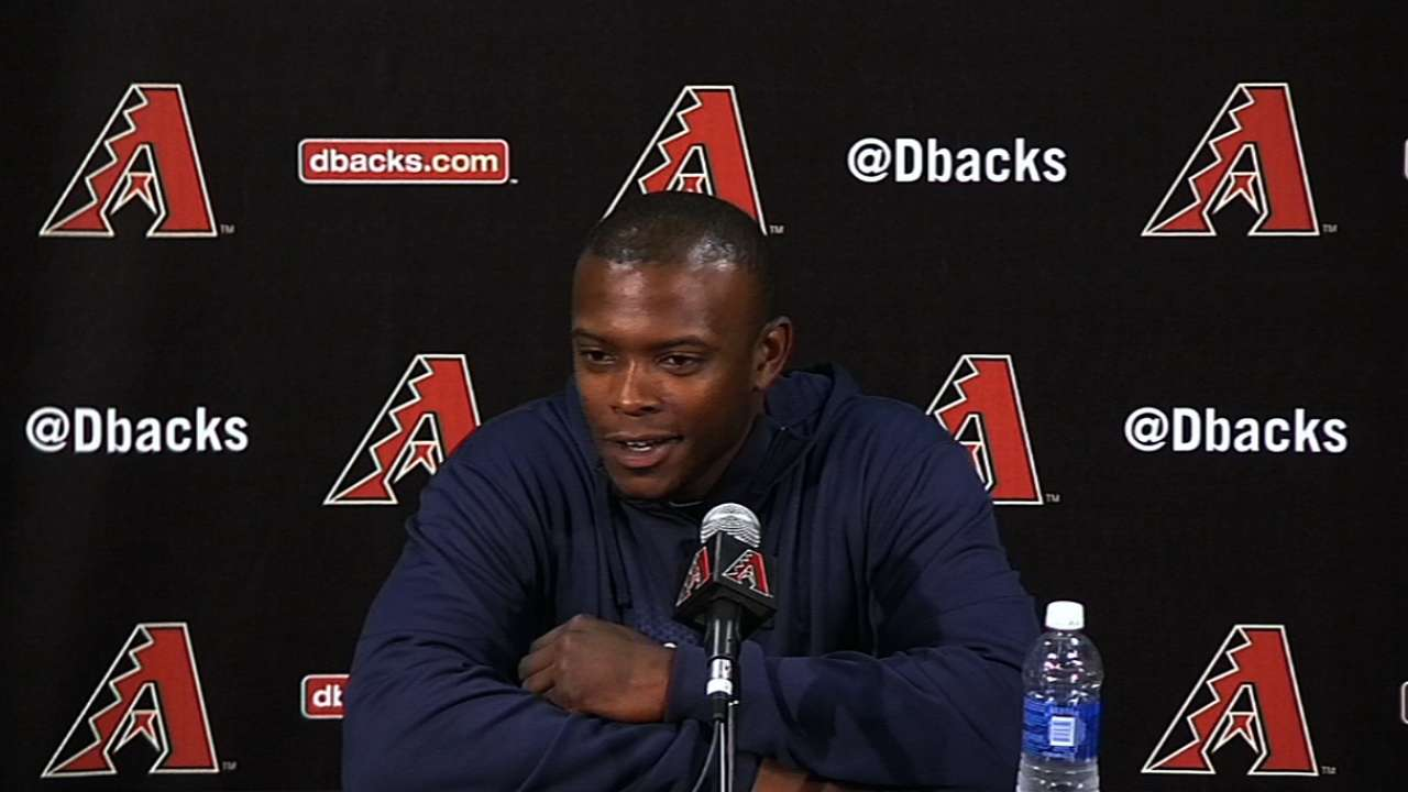 Upton returns to Chase Field for first time since trade