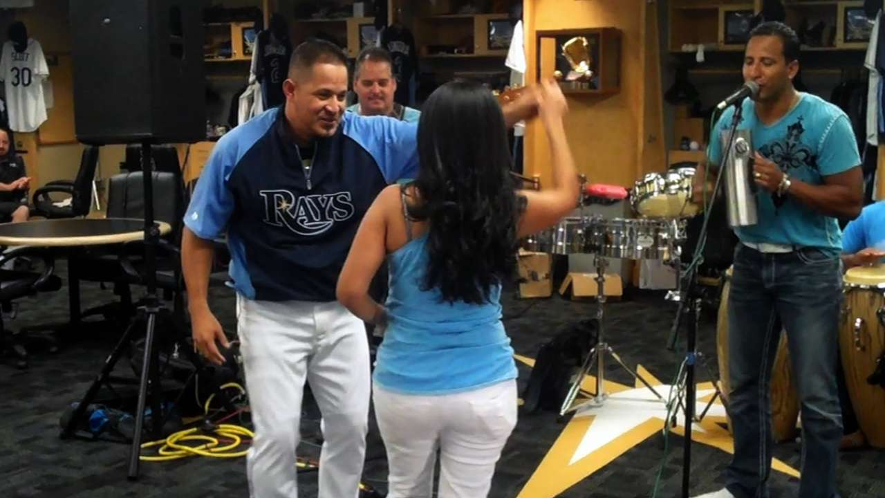 Merengue music latest addition to Rays' clubhouse