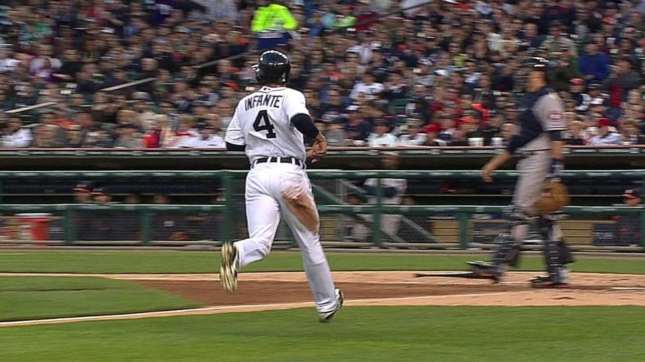 Infante picks his time to steal wisely