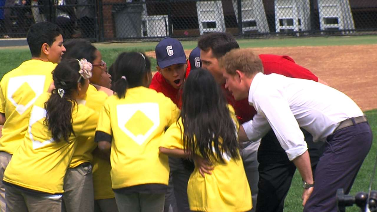 Tex throws BP to Prince Harry at Harlem RBI