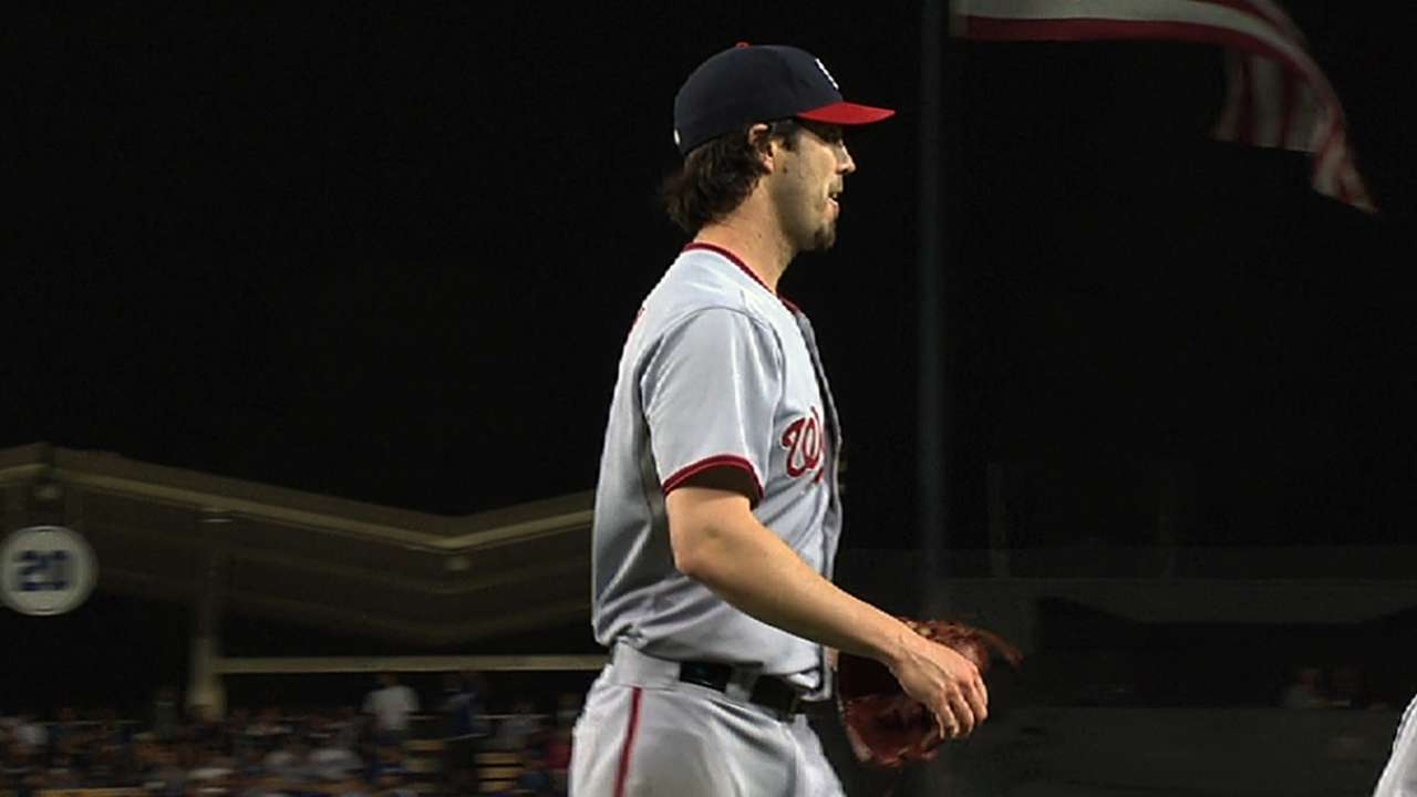 Haren outdueled as Nats can't crack Kershaw