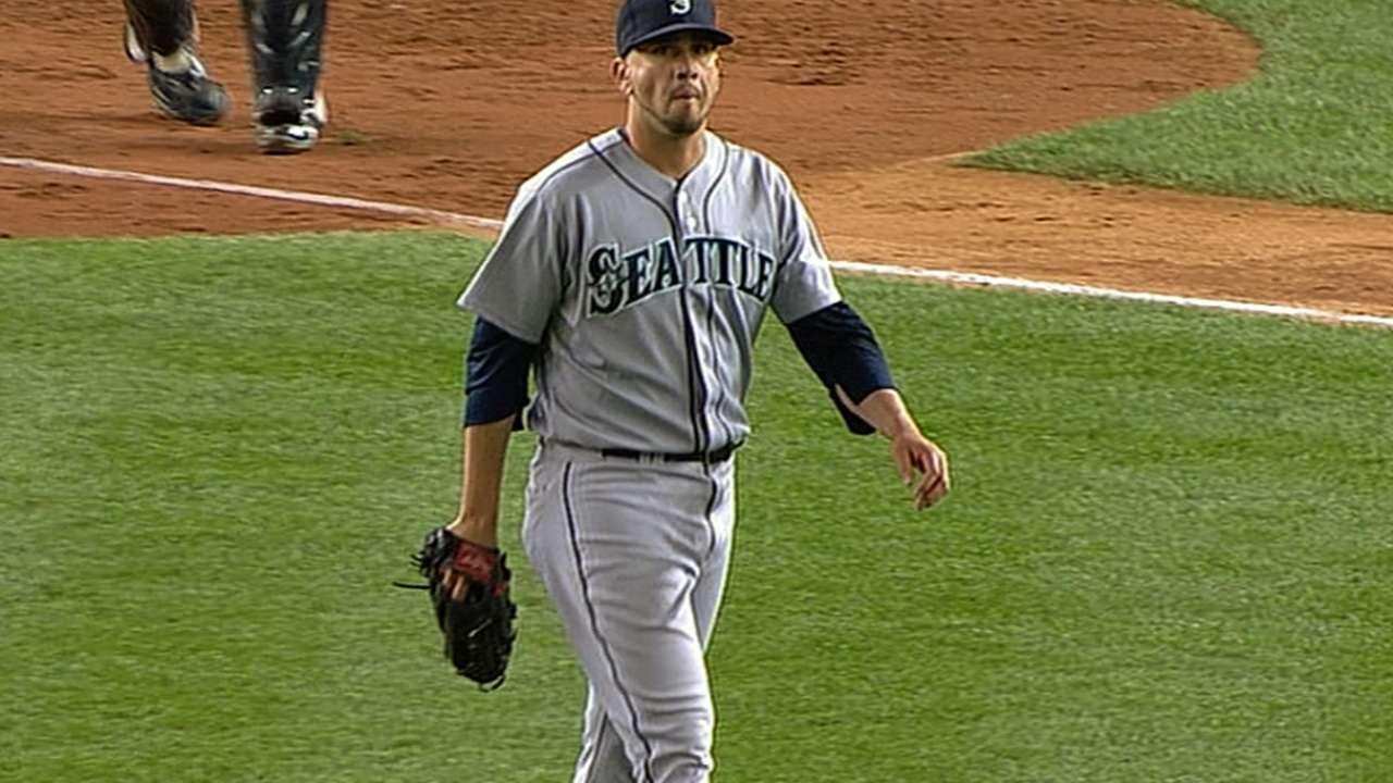 Pérez ha renacido como especialista zurdo en Seattle
