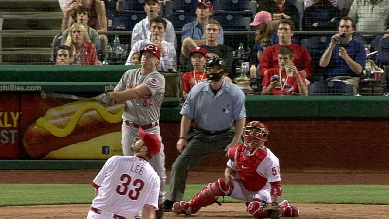 Homers power Reds back, but Phils pull away late