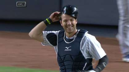 Romine makes a tough grab