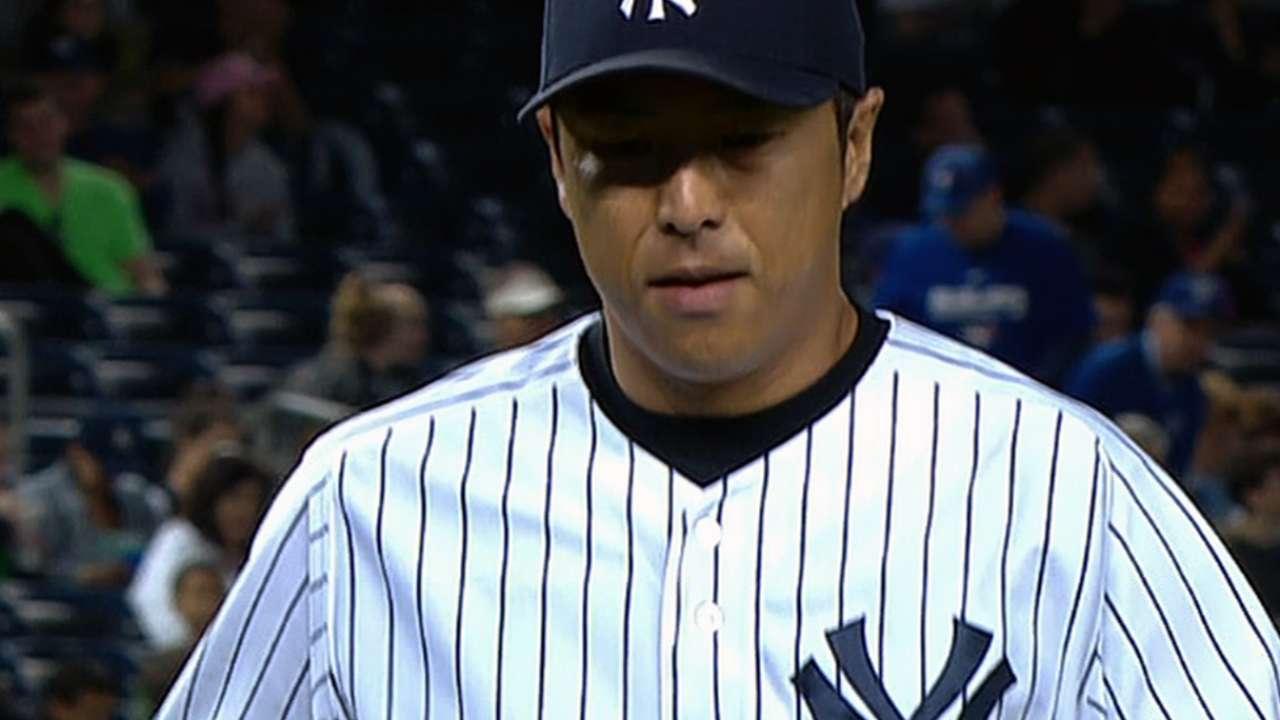 Kuroda stifles Blue Jays with eight two-hit innings
