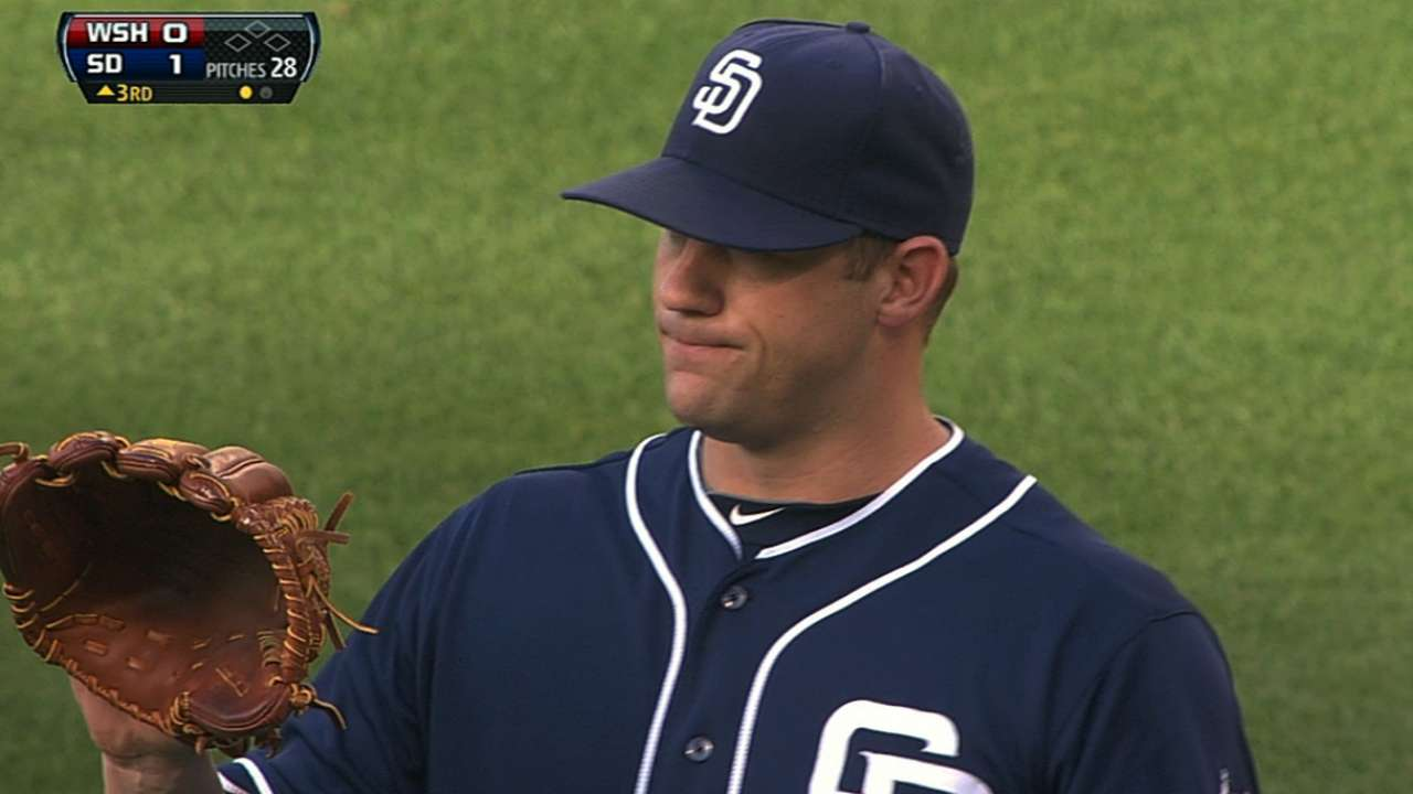 Stults spins gem to lead Padres past Nats