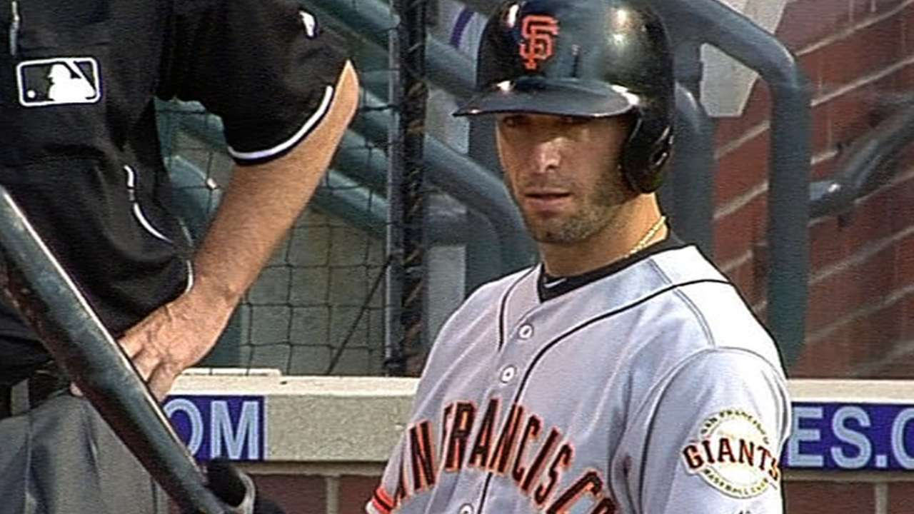 Scutaro, Posey get break in Colorado series finale