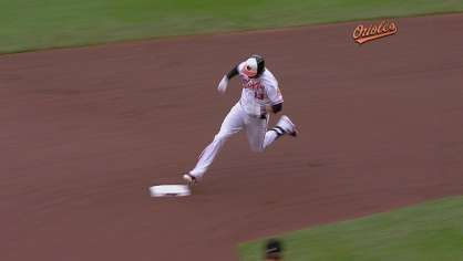 Machado hits a triple