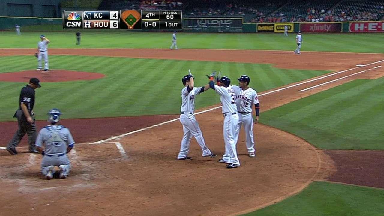Bate de Domínguez hizo la diferencia para Astros