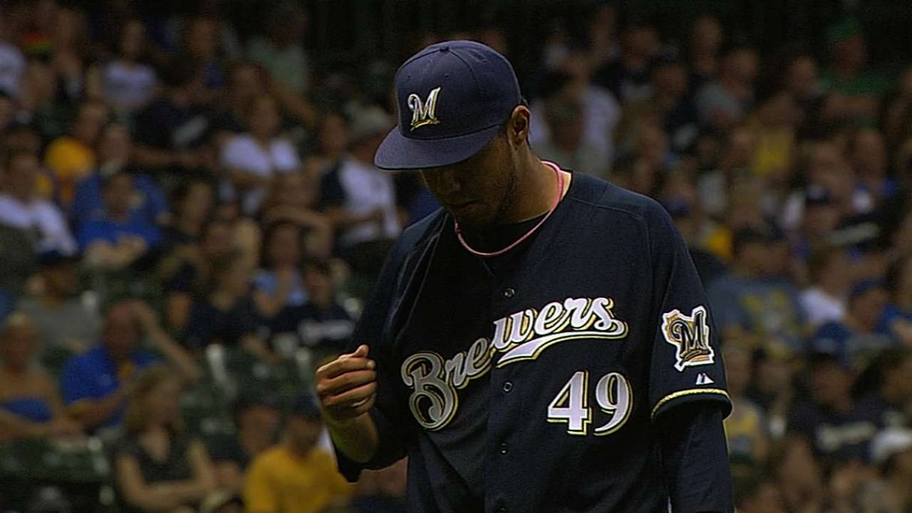 For starters, Brewers' rotation is struggling