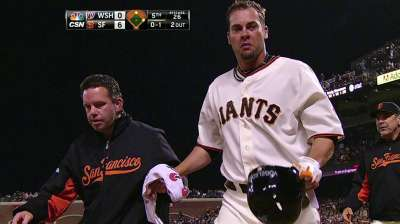 Vogelsong gets splint off broken pinkie finger