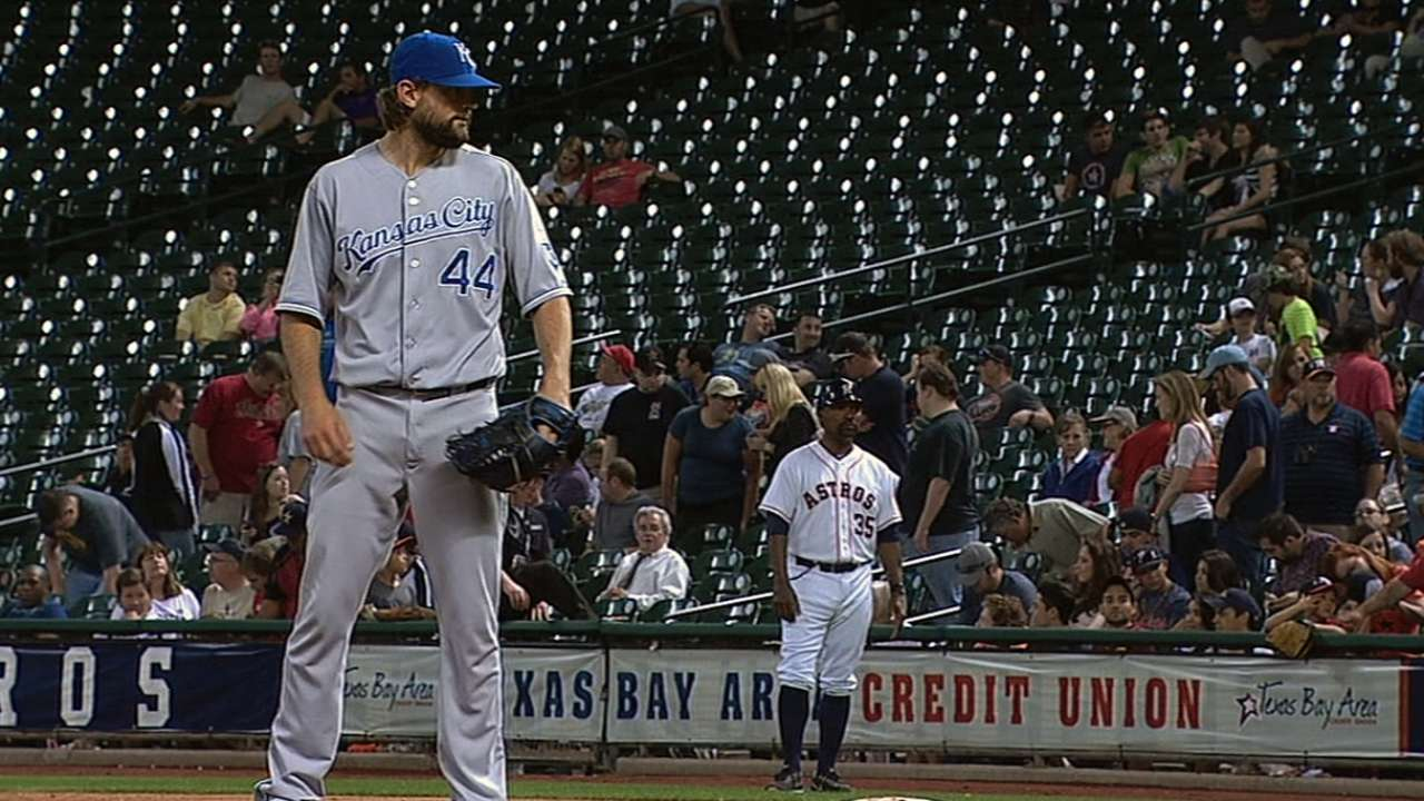 Hochevar geared up for action in bullpen