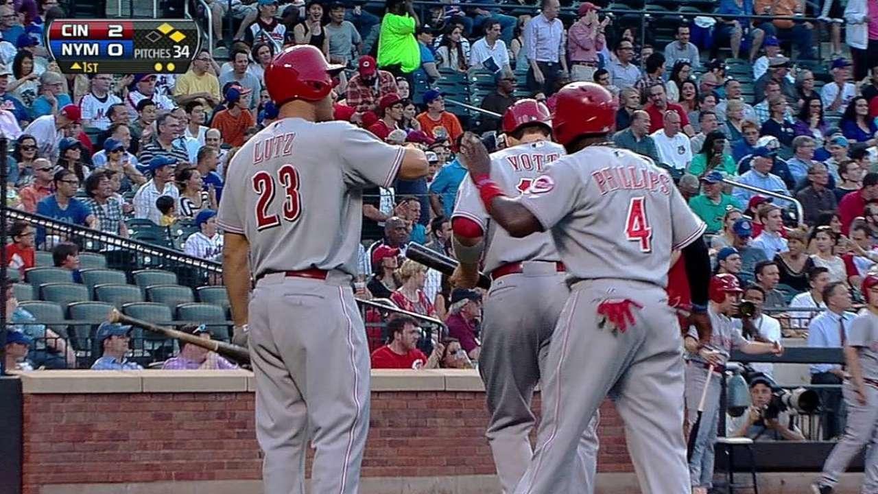 Rojos se aprovechan de error y Leake domina a Mets