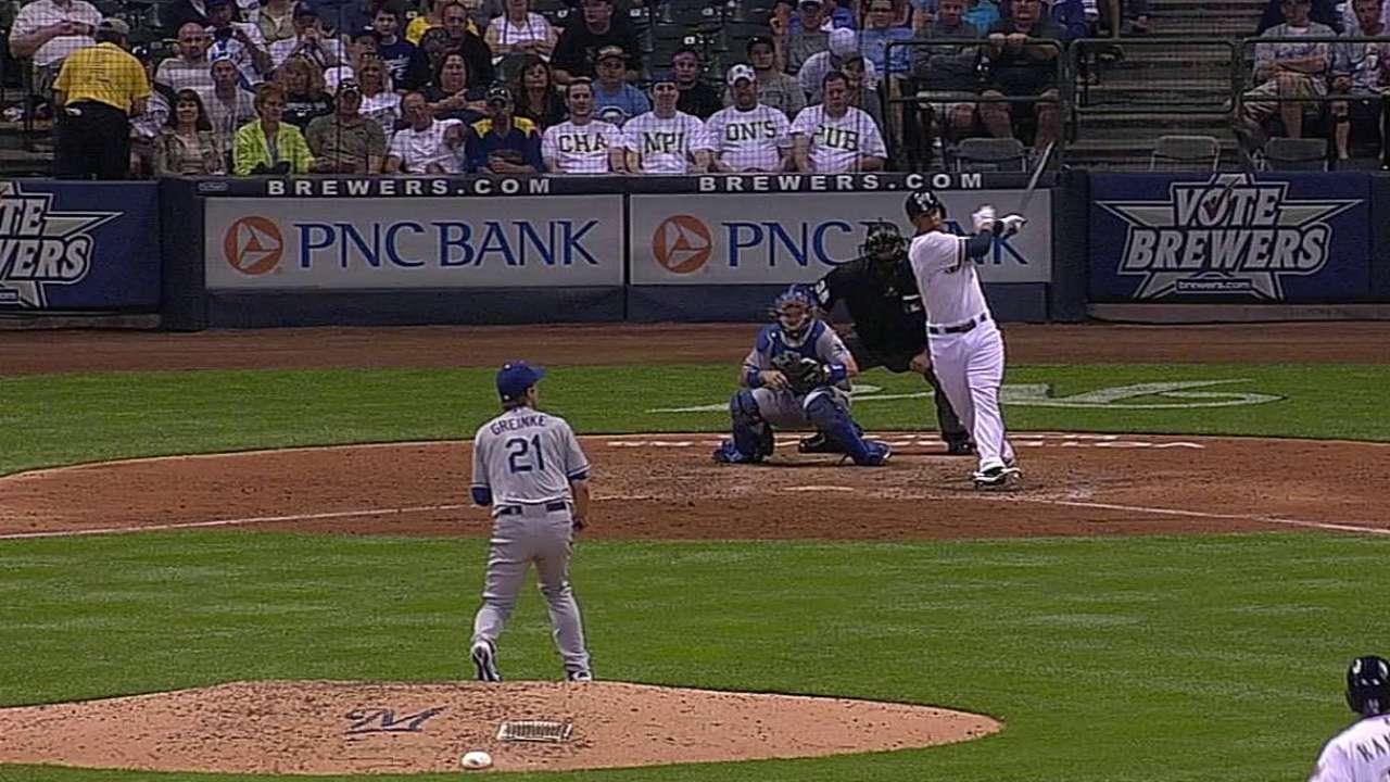 Gómez fue clave para vencer a Greinke, Dodgers