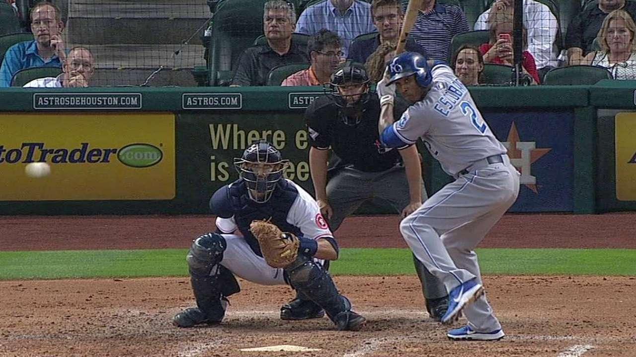 Escobar brilla en remontada de Reales vs. Astros