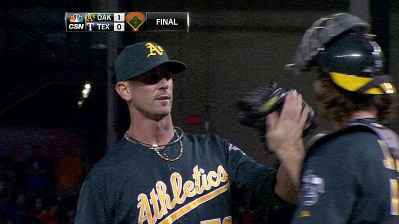 A's bullpen setting high standard for excellence