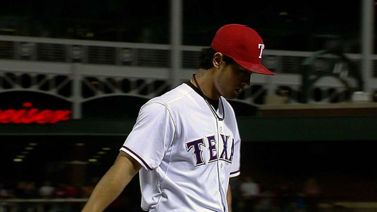 Rangers unable to back Darvish, blanked by A's