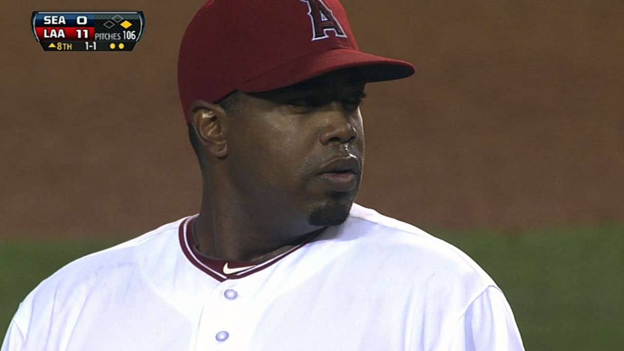 Williams working to keep spot in Angels' rotation